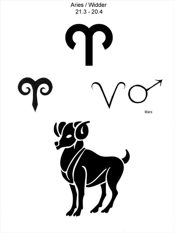 Знак зодиака овен тату