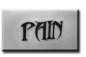Татуировка надпись Боль