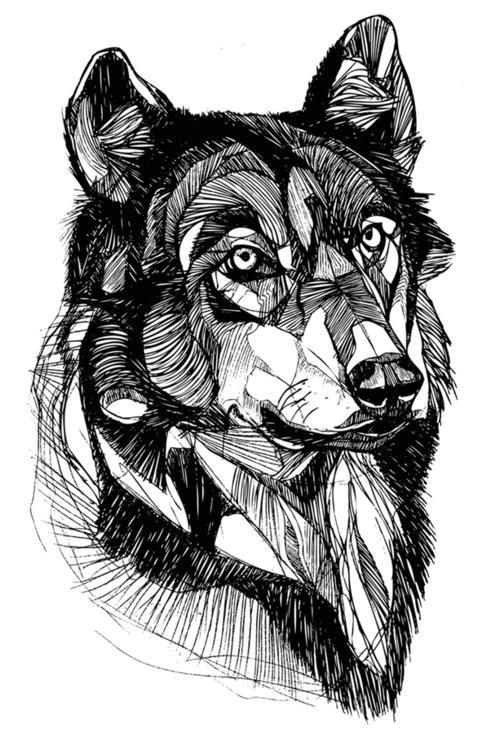 Графика тату эскизы животных