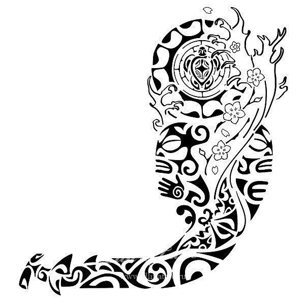 Полинезийские тату на плечо