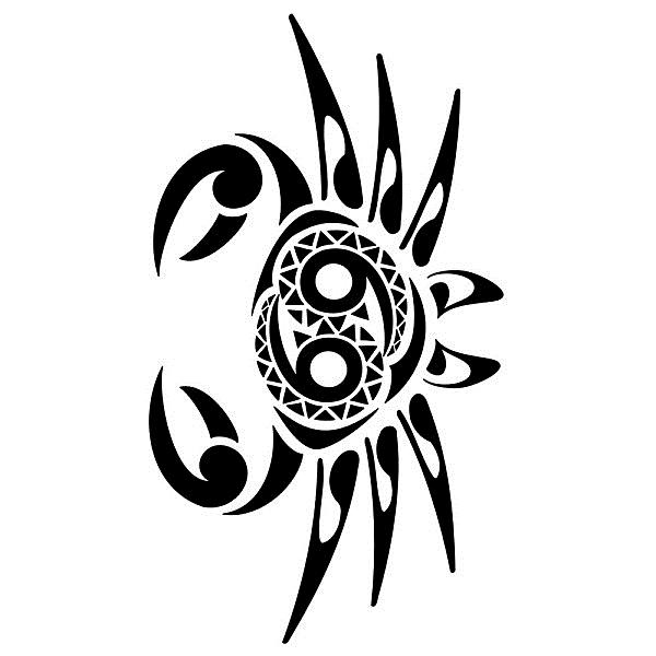 Эскизы татуировок знака зодиака рак