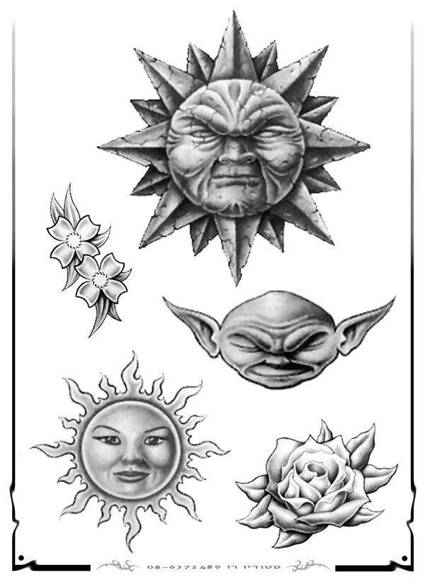 Эскизы татуировок солнца