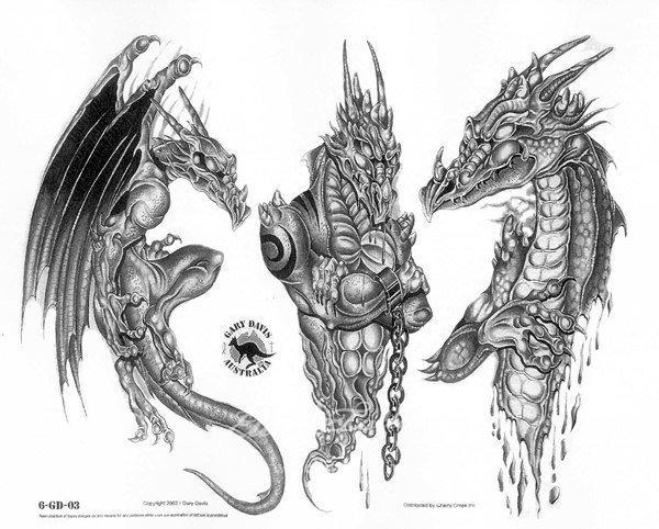 Тату на руке дракон