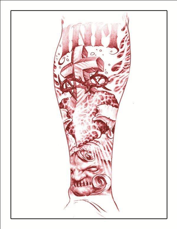 Татуировки мужские на лопатке надпись