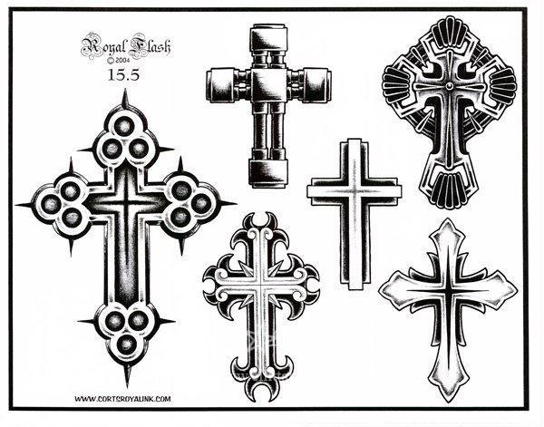 Эскизы крестов для тату на спине