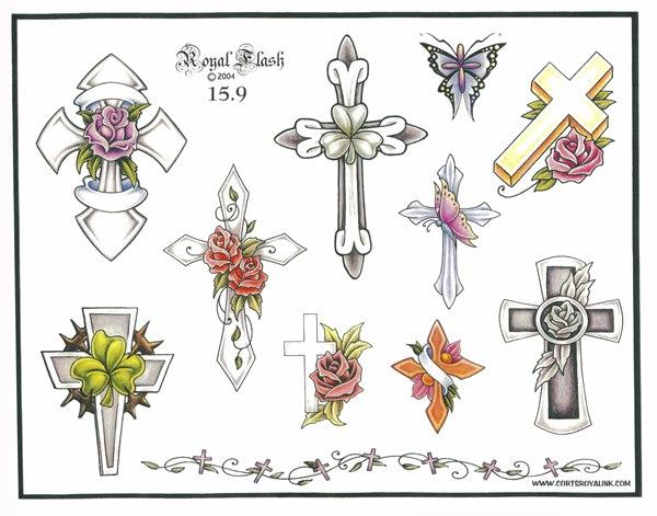 теме искизы тату женские картинки кресты искизы работы