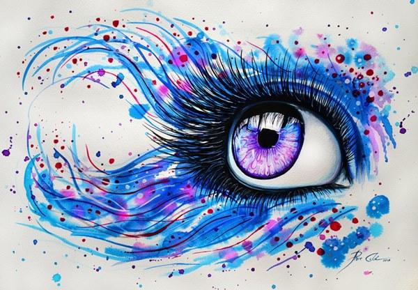 Глаз нарисованный с узором
