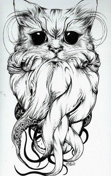 Татуировки котов эскизы