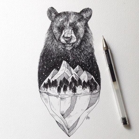 фото татуировок медведей
