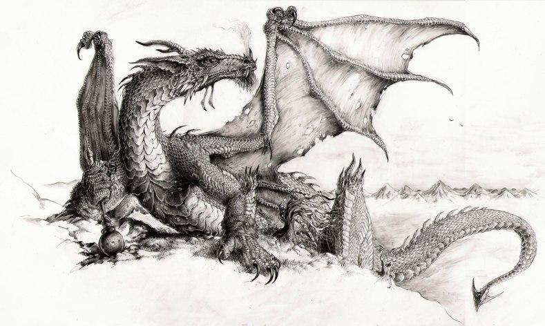 Рисовать спину дракона