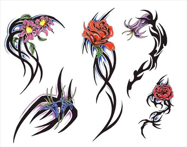 татуировки в картинках на плече для девушек