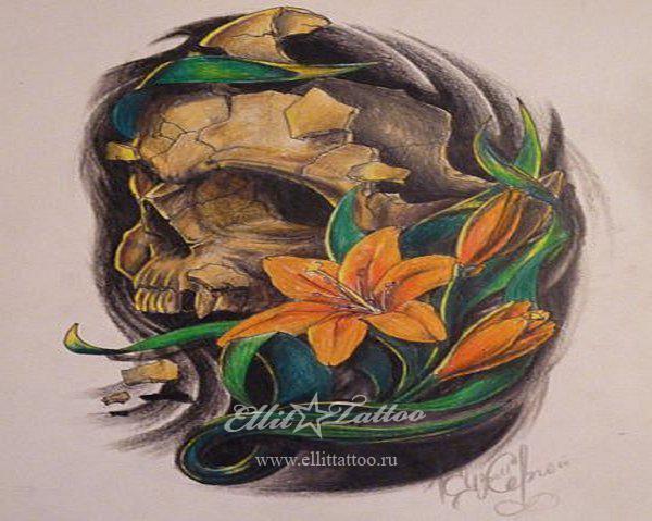 Обозначение татуировки смерть с косой