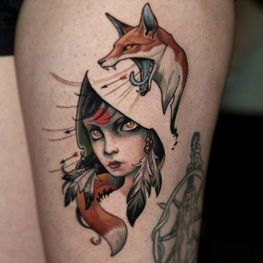 Татуировка лиса. Символика, основное 1
