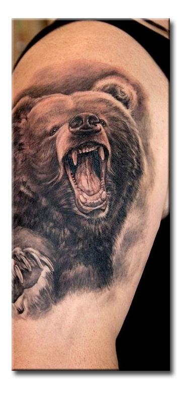 термобелье эскиз татуировки медведя перед лесом вынуждены длительное время