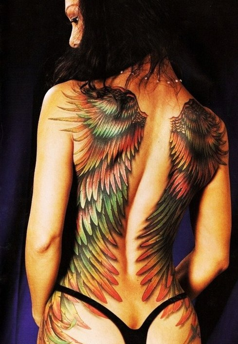Красивые картинки с татуировками на спине