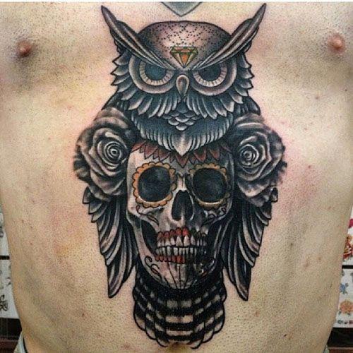 Owl tattoos design for men