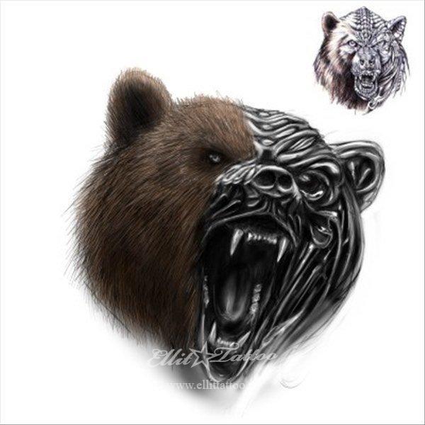 Тату эскиз медведь эскизы эллит тату