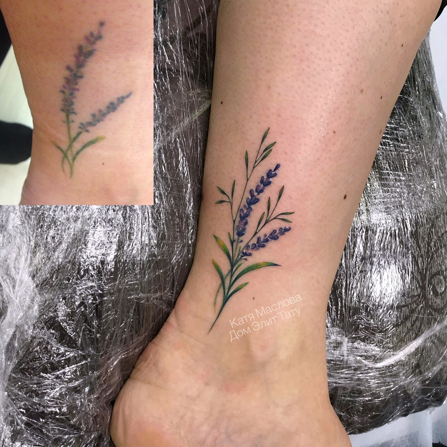 Di moda фото тату на ноге женские