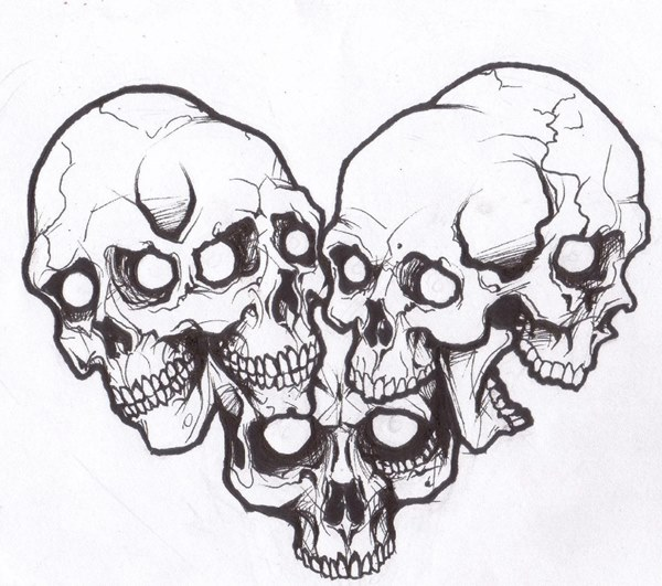 время, картинки наколки череп ангел