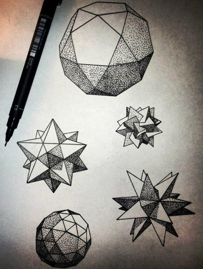 тату геометрия звезда эскизы и фото все между