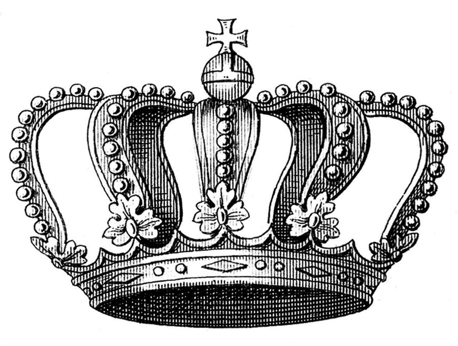 Картинки корона эскиз для тату