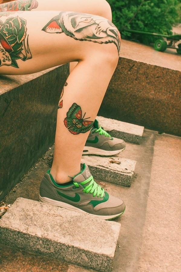 это прикольные тату на ноге женские фото драмтеатра уменьшенная