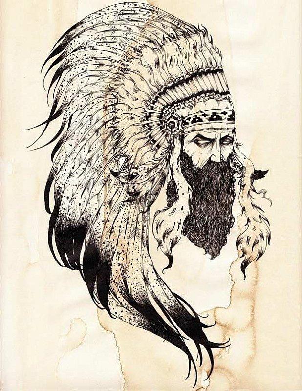 индейские эскизы тату фото щука кем попало